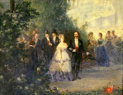 Evening Party at the Tuileries, 10th June 1867 Fine Art Print by Pierre Tetar van Elven
