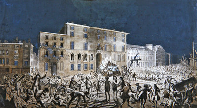 Riot at Lyon, 27th November 1768 Wall Art & Canvas Prints by French School