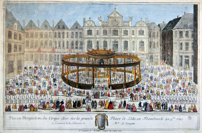 Celebrations at Lille in honour of the birth of the Dauphin, 1781 Poster Art Print by French School