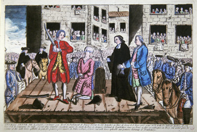 Execution of Thomas Arthur Comte de Lally on 8 May, 1766 in Paris Fine Art Print by French School