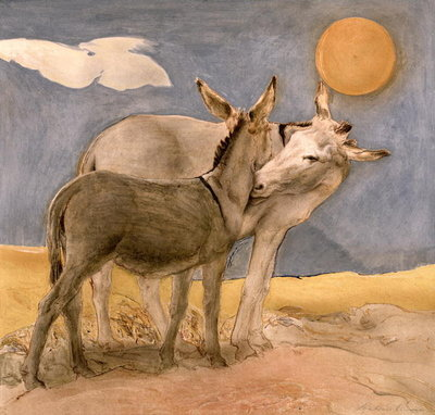 Donkeys, 1989 Fine Art Print by Antonio Ciccone