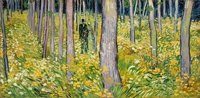 Undergrowth with Two Figures, 1890 Fine Art Print by Vincent van Gogh