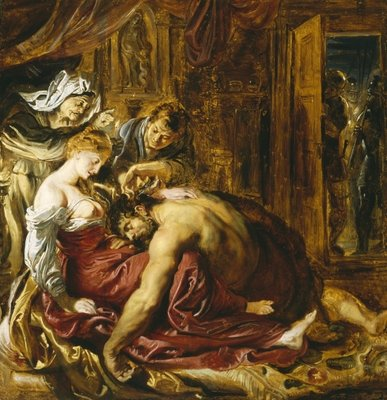 Samson and Delilah, c.1609 Postcards, Greetings Cards, Art Prints, Canvas, Framed Pictures & Wall Art by Peter Paul Rubens