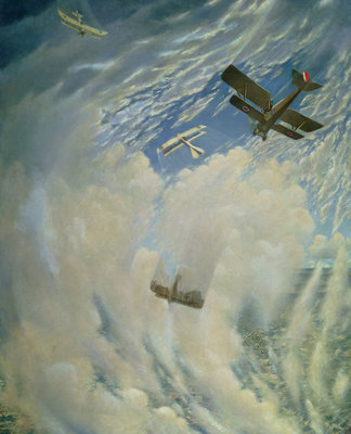 War in the Air, 1918 Fine Art Print by Christopher Richard Wynne Nevinson