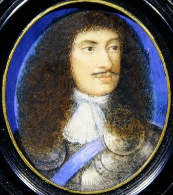 Portrait of Charles II Fine Art Print by English School