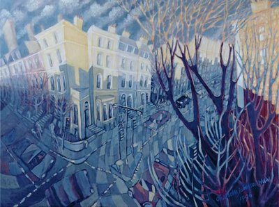 Ladbroke Grove, My Corner, 1996 (oil on canvas) Wall Art & Canvas Prints by Charlotte Johnson Wahl