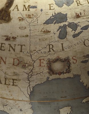 Terrestrial globe, detail of the Gulf of Mexico, 1683 Fine Art Print by Vincenzo Maria Coronelli