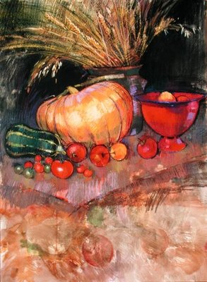 Harvest (pastel on paper) Wall Art & Canvas Prints by Claire Spencer