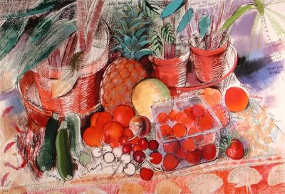 Summer Fruits Fine Art Print by Claire Spencer