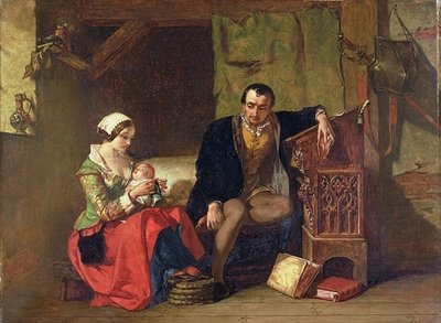 The Origin of the Stocking Loom, 1847 Wall Art & Canvas Prints by Alfred W. Elmore