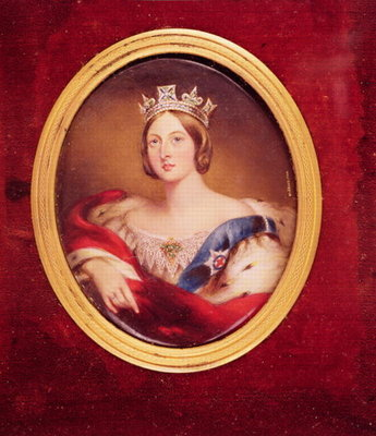 Portrait of Queen Victoria, 1858 Fine Art Print by William Essex
