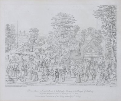 Fete at Horseydown in c.1590 Poster Art Print by Joris Hoefnagel