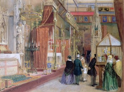 The Medieval Court of the Great Exhibition of 1851 Fine Art Print by Louis Haghe