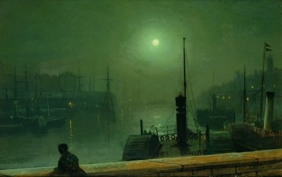 On the Clyde, Glasgow, 1879 Fine Art Print by John Atkinson Grimshaw