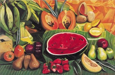 Still Life with Watermelon, 2005 Fine Art Print by Pedro Diego Alvarado