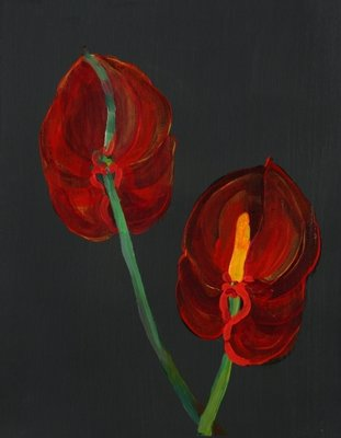 Anthurium, Heart Flower, 2008 Fine Art Print by Deborah Barton