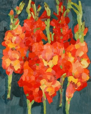 Cornish Gladioli, 2006 (oil on canvas) Wall Art & Canvas Prints by Deborah Barton
