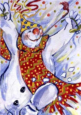 Snowman Party, 1999 Fine Art Print by David Cooke