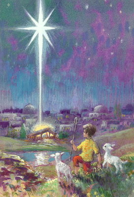 The Star of Bethlehem (gouache on paper) Wall Art & Canvas Prints by Stanley Cooke