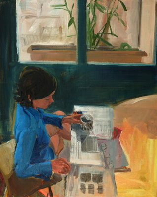 Morning, 2004 (oil on linen) Postcards, Greetings Cards, Art Prints, Canvas, Framed Pictures, T-shirts & Wall Art by Daniel Clarke