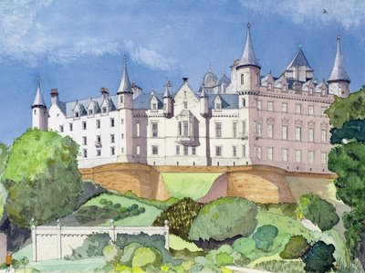 Dunrobin Castle, 1996 Fine Art Print by David Herbert