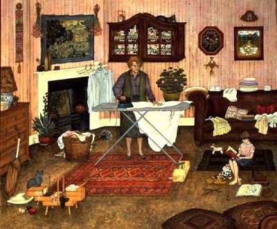 Hilda Nekuda's Ironing Day Fine Art Print by Ditz