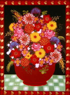 Bowl of Flowers Poster Art Print by Ditz