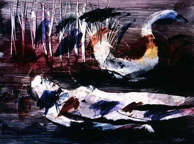 Leda and the Swan, c.1960 Fine Art Print by Sir Sidney Nolan