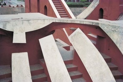 Jantar Mantar astronomical observatory Fine Art Print by Anonymous