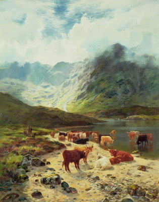 Ross-shire Loch, 1888 Fine Art Print by Louis Bosworth Hurt