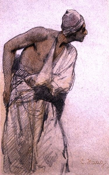 An Arab Peasant Fine Art Print by Carl Haag