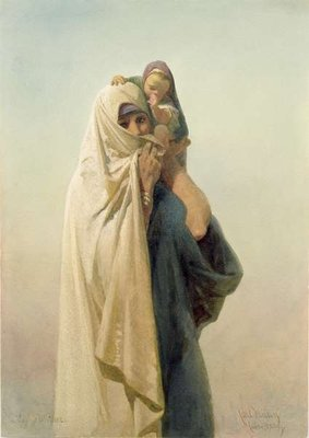 A Coptic Mother, 1859 Wall Art & Canvas Prints by Carl Haag