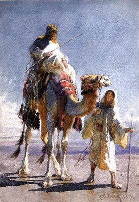 The Shaik and his Guide, 1874 Fine Art Print by Carl Haag