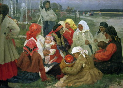 Peasant Women, 1905 (oil on canvas) Fine Art Print by Vassa Epifanova