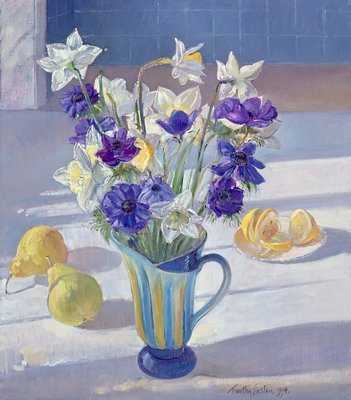 Spring Flowers and Lemons, 1994 (oil on canvas) Fine Art Print by Timothy Easton