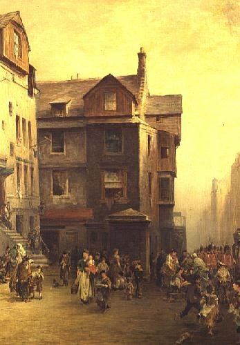 John Knox's House, High Street, Edinburgh, 1885 Fine Art Print by Pollok Sinclair Nisbet