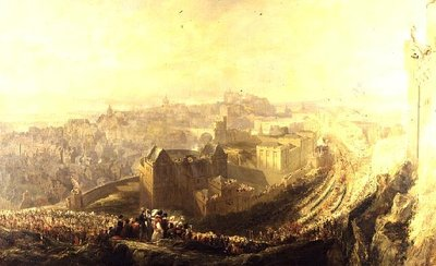 The Entry of George IV into Edinburgh from the Carlton Hill, 1822 Fine Art Print by John Wilson Ewbank