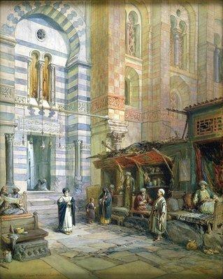 The Maristan or Mosque-Hospital of Kalaun, Cairo, 1882 Fine Art Print by William 'Crimea' Simpson