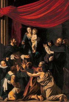 Madonna of the Rosary, c.1607 Fine Art Print by Michelangelo Merisi da Caravaggio