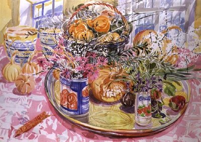 Florentine Arrangement Fine Art Print by Elizabeth Jane Lloyd