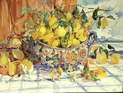 Tureen of Quinces Wall Art & Canvas Prints by Elizabeth Jane Lloyd