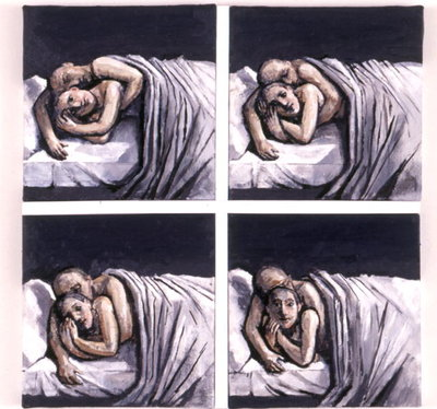 Couple in Bed, 2002 Fine Art Print by Evelyn Williams