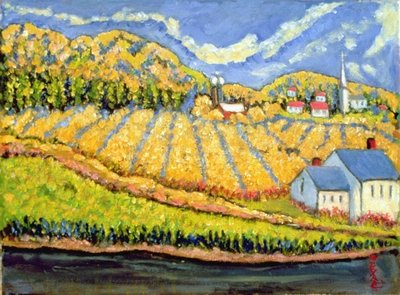 Harvest, St. Germain, Quebec Wall Art & Canvas Prints by Patricia Eyre