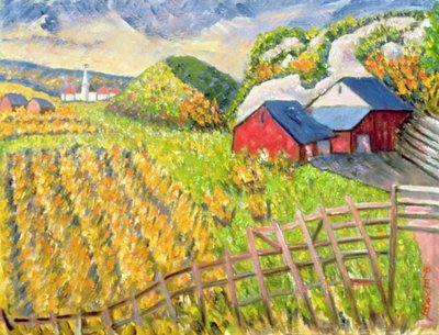 Wheat Harvest, Kamouraska, Quebec Fine Art Print by Patricia Eyre
