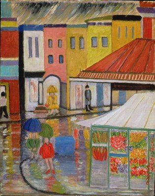 Spring Rain, Bywood Market Wall Art & Canvas Prints by Patricia Eyre
