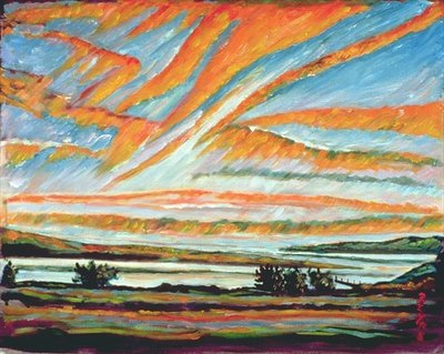 Sunrise, Les Eboulements, Quebec Fine Art Print by Patricia Eyre