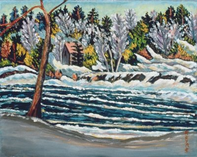 Winter Thaw, Gatineau River Wall Art & Canvas Prints by Patricia Eyre