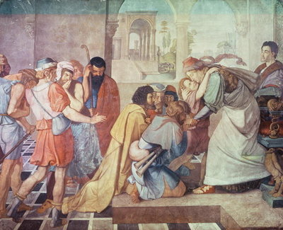 Joseph recognised by his brothers Fine Art Print by Peter von Cornelius