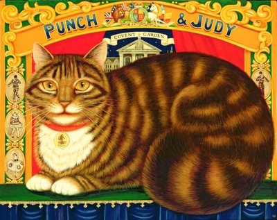 Muffin, The Covent Garden Cat, 1996 (oil & tempera on panel) Fine Art Print by Frances Broomfield