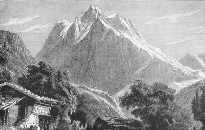 The Wetterhorn Fine Art Print by German School
